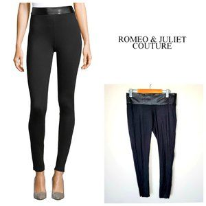 ROMEO & JULIET Faux Leather Snake Print Leggings